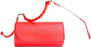 Okulary czerwony neonowy Szkło