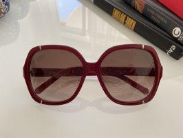 Chloé Angular Shaped Sunglasses bordeaux