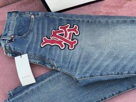 Gucci Jeansy z wysokim stanem szary niebieski