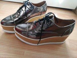 H&M Zapatos estilo Oxford color bronce