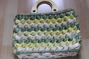 keine Marke bekannt Torebka koszyk trawiasty-limonkowy żółty