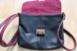 1982 Crossbody bag black-magenta