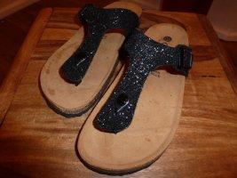 Sandalias con talón descubierto negro-camel Cuero