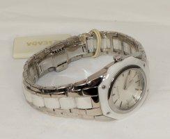 Escada Reloj con pulsera metálica blanco-color plata