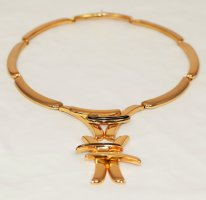 Christian Dior Colliers ras du cou doré métal