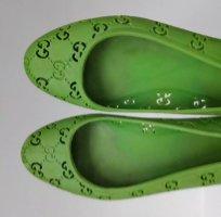 Gucci Składane baleriny zielony-trawiasty