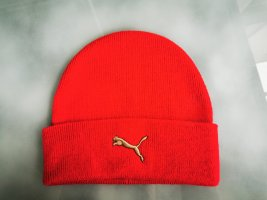 Puma Knitted Hat red-gold-colored