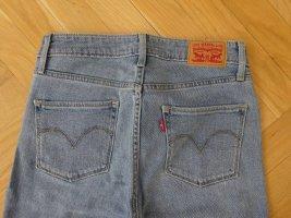 Levi's High Waist Jeans blue textile fiber