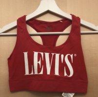 Levi's Bustier Top dark red-white