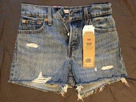Levi's Jeansowe szorty stalowy niebieski Denim