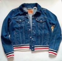 levi's Jeansjacke blau mit Strickbündchen neu