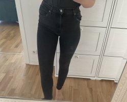 Levi's Hoge taille jeans zwart-donkergrijs