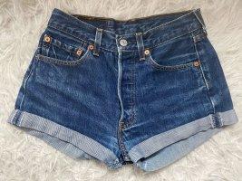 Levis High waist short donkerblauw
