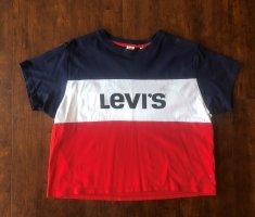 Levi´s T-shirt Blau,Rot,Weiß mit Logo Print Größe 36