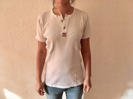 Levi's Camisa acanalada blanco