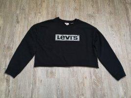 Levis Pullover Levi's Sweatshirt cropped Schwarz silber M