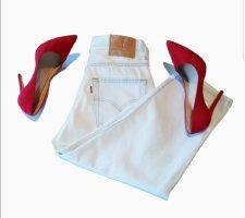 Levi's Pantalon capri bleu azur coton