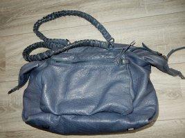 Liebeskind Sac Baril bleu cuir