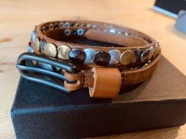 Liebeskind Berlin Cinturón de pinchos marrón