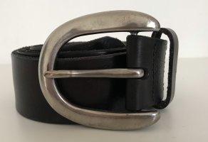 Liebeskind Berlin Cintura di pelle nero-argento Pelle