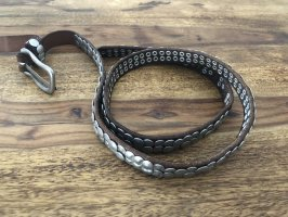 Liebeskind Berlin Studded Belt brown leather