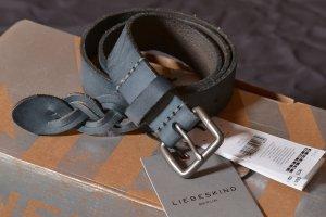 Liebeskind Leather Belt slate-gray leather
