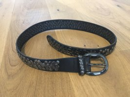 Liebeskind Berlin Studded Belt black leather