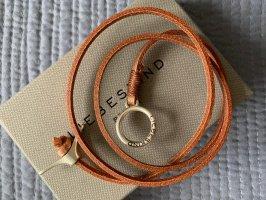 Liebeskind Berlin Bracelet en cuir or rose-marron clair