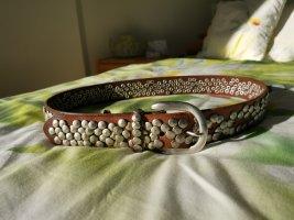 Liebeskind Studded Belt brown-dark brown leather