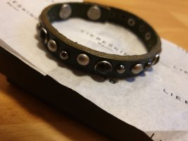 Liebeskind Leather Bracelet dark green