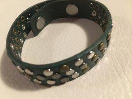 Liebeskind Nietenarmband Armband Leder grün NEU und ungetragen