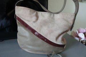 Liebeskind Tasche Schultertasche beige rot grau