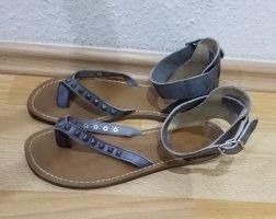 LIEBESKIND: wunderschöne, graue Sandalen in Größe 39. Made in Italy.