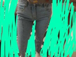 Light wash seam detail high waisted jeans