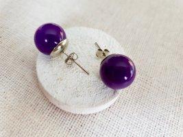 Zarcillo violeta oscuro-violeta azulado