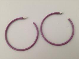 Accessoires Créoles gris violet