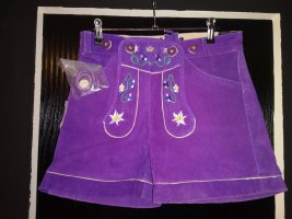 Traditional Trousers lilac leather