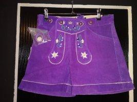 Pantalon bavarois violet cuir