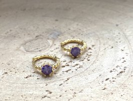Silver Ear Hoops gold-colored-lilac