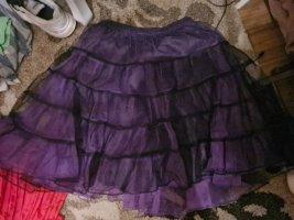 Gonna di tulle nero-viola-grigio