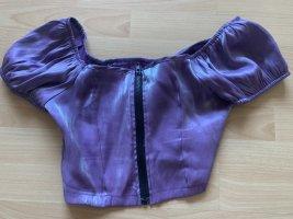 Sheinside Cropped top donkerpaars-blauw-paars