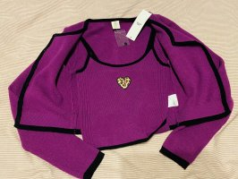 Lila Urban outfitters Doppel Feinstrickset aus Cardigan und camisole