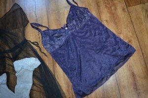 Négligé argenté-violet foncé