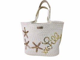 Lilly Pulitzer Torebka koszyk w kolorze białej wełny-złoto
