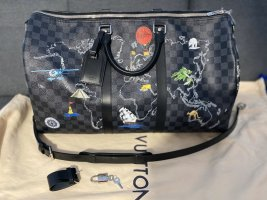 Limited Edition Graphite Keepall Bandoulier 50 World Map