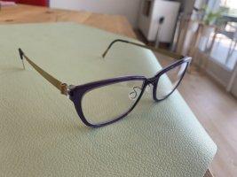 Lindberg Lunettes violet foncé-brun sable acétate