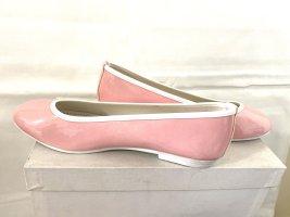 Linea Scarpa Ballerina di pelle verniciata rosa pallido