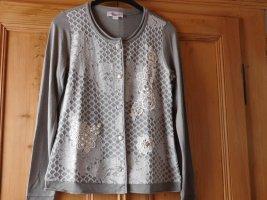 Linea Tesini Shirt Jacket grey-white viscose