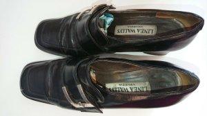 Linea Wallys Schuhe, Design, Schwarz, Voll Leder Schuhe Gr. 38