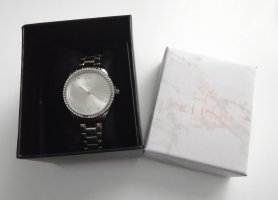 Lipsy London Uhr mit Glitzersteinen Silber Neu